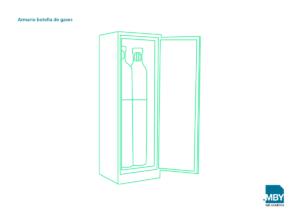Armarios de seguridad para botellas de gases