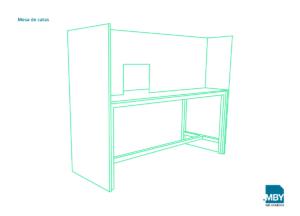 Mesa de catas para laboratorios