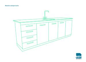 Mueble autoportante para laboratorio